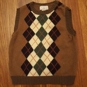 Children's Place Argyle Sweater Vest